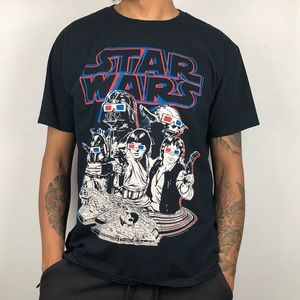 🪐🪐 Star Wars 3D Graphic Black Tee